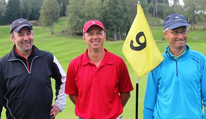 2014 - Lederballen i klubbmesterskapet 2014, f.v. Ketil Nordgård, Per Frode Haugen (mester) og Olaf Thomassen.