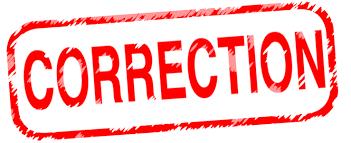 Korreksjon – seniorcup OoM