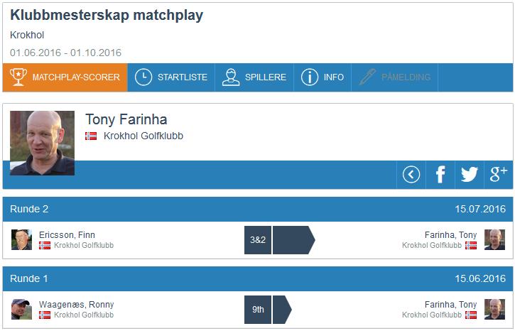 Matchplay-resultat